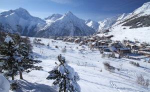 A great view of Les Deux Alpes