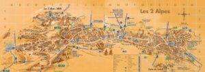 The village map for Les Deux Alpes