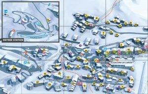 An image of the Val Thorens village map