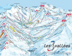 The 3 Valleys Piste Map