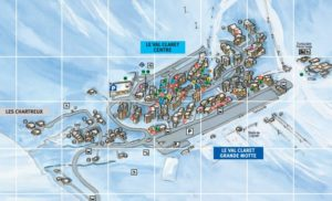 An image of the Tignes Val Claret resort map